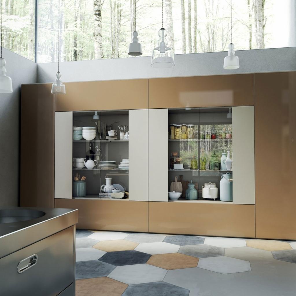 Libreria Roomy con modulo vetrina by Caccaro