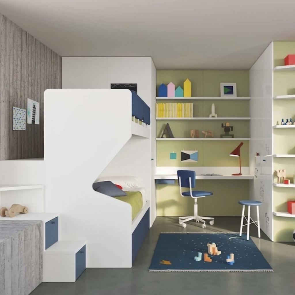 Cameretta con soppalco per letto a castello room 6 by nidi for Nidi arredamento