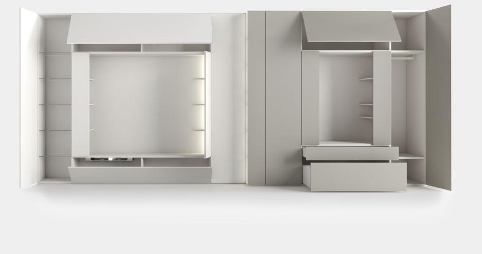 Libreria roomy con vano tv by caccaro for Caccaro arredamenti
