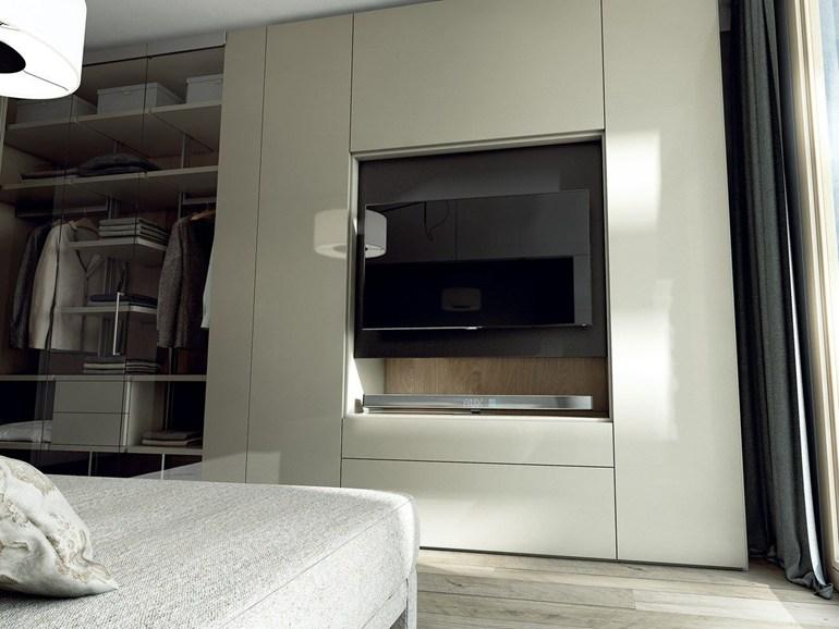 Armadio Camera Da Letto Con Vano Tv.Roomy Armadi Con Vano Tv By Caccaro