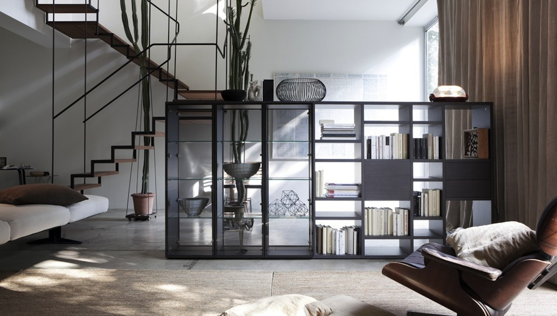 Libreria a spalla bifacciali by rossetto lounge for Arredamenti marche