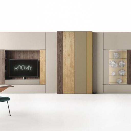 Libreria roomy con mensole e ante laterali by caccaro for Caccaro arredamenti