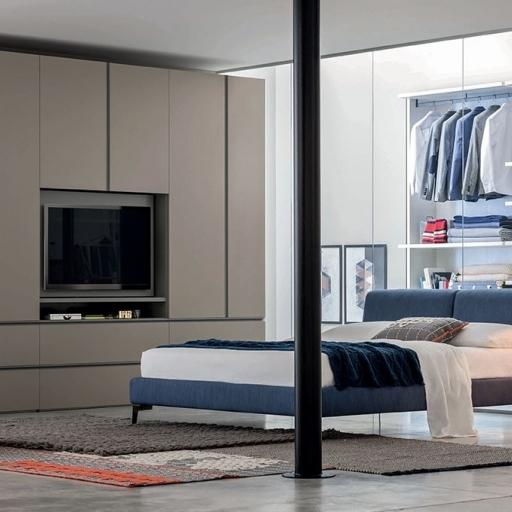 Armadio battente gola modulo porta tv by novamobili ztl for Outlet arredamento bologna